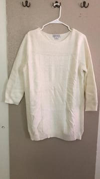White Liz Claiborne sweater, size L Fort Worth, 76155
