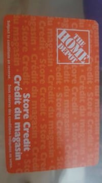 $275 Home Depot Store Credit Gift Card New Westminster