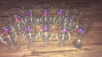 Six clear glass beer mugs Holiday, 34691
