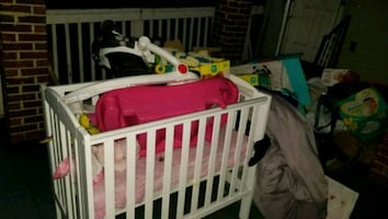 Baby Crib, Bouncier and Toys
