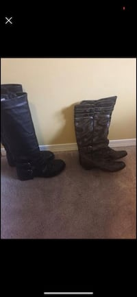 Two pairs of leather boots. Size 38.  Edmonton, T6K 1W8