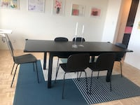 Complete dining table with 6 chairs and rug! Only 9 months' use! Boston, 02199