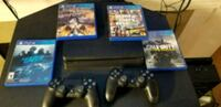 Sony PS4 console with controller and game cases Puyallup, 98373