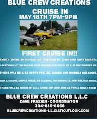Cruise in- May 18th 7pm-9pm Martinsburg