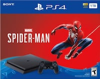 PS4 with both battlefield and spider game with one controller  Bakersfield, 93304
