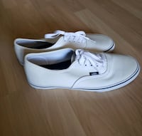 VANS white leather sneakers *brand new