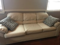 Used White leather type material 3-seat sofa  New Orleans, 70122