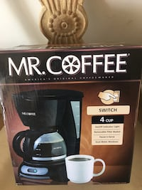 Mr. Coffee 4 Cup Coffee Maker / On/Off Indicator Light / Removable Filter Basket / Pause-n-Serve / Dual Water Windows Beverly Hills, 90212