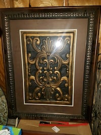 brown wooden framed painting of flower Beaumont