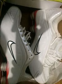 pair of white Nike Shox Toronto, M1C 4K5