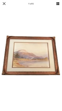 Framed Water Colour Painting by Thomas William Fripp ca. 1909