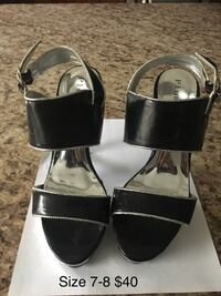 Black and silver shoes size 7-8 Toronto, M3H 4M9