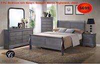 gray wooden bed frame and white mattress Hollywood, 33020