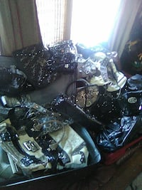 white and black leather tote bag lot