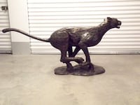 Cheetah Sculpture - Running Full Stride Laurel