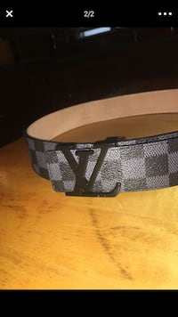 Damier Ebene Louis Vuitton leather belt Chicago, 60629