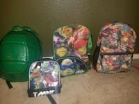 Kids school backpacks and lunch box
