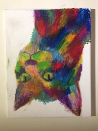 Red multi-colored cat painting Vienna, 22182
