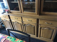 Brown wooden buffet and hutch 100 or beat offer Toronto, M1K 2K9