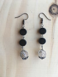 pair of silver-colored hook earrings Jersey City, 07306