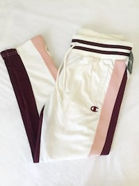 NWT Champion Side Stripe Slim Leg Track Pants Joggers Size M