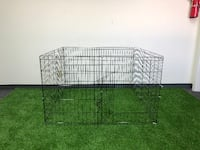 """New $30 Foldable 30"""" Pet Playpen Dog Crate Metal Fence Exercise Cage 8 Panels South El Monte"""