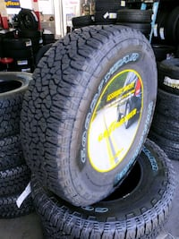 245/75/16...4 new Goodyear Trailrunners..Installed El Monte, 91732