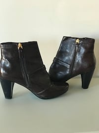 Franco Sarto A-BEECH Women's Dark Brown Like New Boots Size 8.5 Wide Jessup, 20794