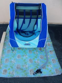 BIKE TRAILER QUICK N EZ FOR 2 KIDS by InStep Fairly New Blue/Light Green color HUNTINGTONBEACH