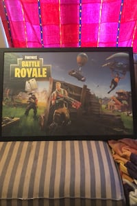 Fortnite poster in frame