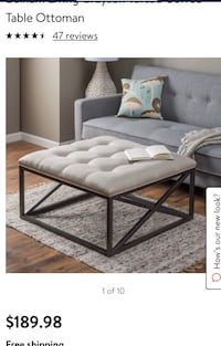 New belham living Grayson tufted coffee table and end table Columbus, 43016