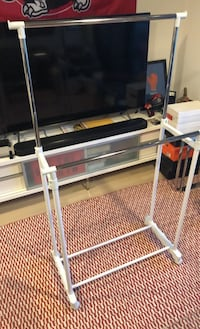 Adjustable clothing rack on wheels with stoppers  Toronto, M6J