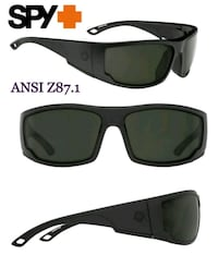 New Men's Matte Black Sunglasses, Happy Grey Green Lenses Lake Forest