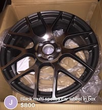 Black multi-spoke car wheel new in box never mounted Columbia, 21046