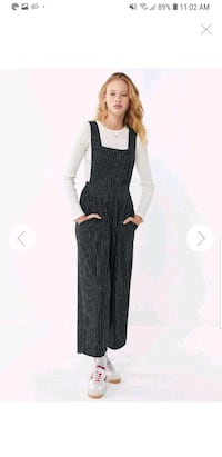 UO Phoebe Pinstripe Pinafore Jumpsuit   Dover, 17315