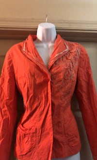 Coldwater creek jacket with appliqué with Frayed collar and cuffs Newport News, 23608