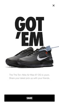 New off white air max 97 size 12 Seattle, 98178