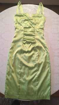 Lime green satin cocktail dress size XS Edmonton, T5R 2R6