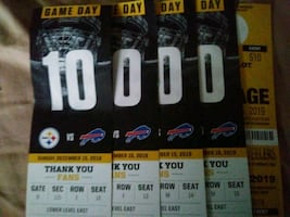 Steelers bills 4 with parking section 115
