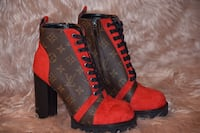 red-and-black low top sneakers Sterling Heights, 48314