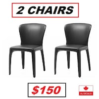 AJ- 2 CHAIRS - M27 Top-to-Toe Chair Aniline Leather Mississauga