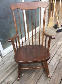 Brown wooden windsor rocking chair Calgary, T3H 0S1