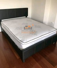 Brand New Queen Size Leather  Bed +Pillowtop Matt Silver Spring, 20902