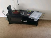 black wooden TV stand with mount Missouri City, 77489