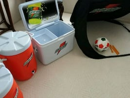 Gatorade Coolers and Soccer Ball and Net