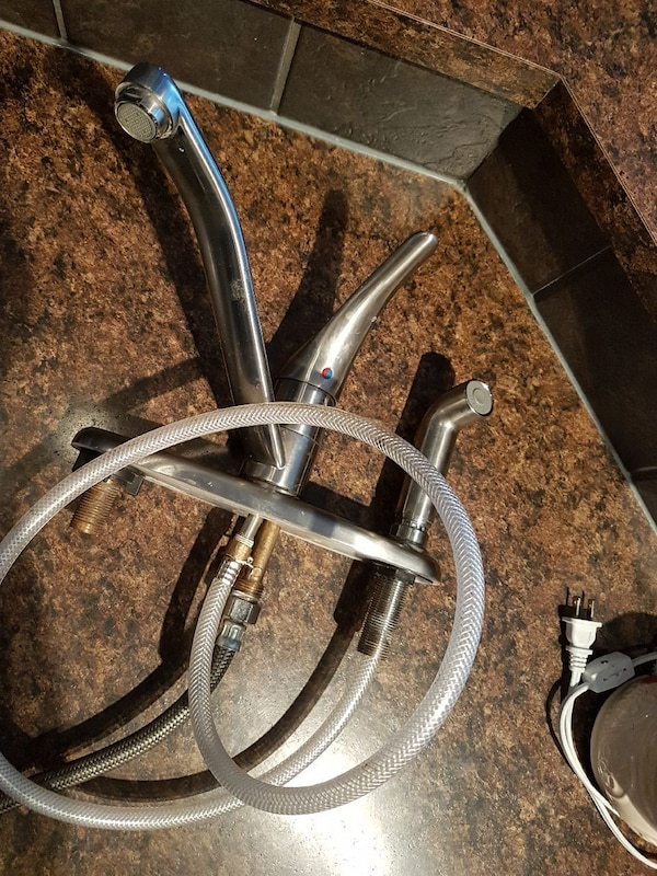 Used Stainless Steel Kitchen Faucet With Sprayer For Sale In Calgary