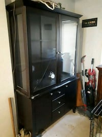 black wooden framed glass display cabinet Winnipeg, R2W 0W2