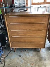 Mid-Century Modern Blonde Highboy Dresser Washington, 20001