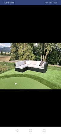 white and black sectional couch 3726 km