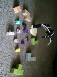 Minecraft minis ender dragon, 9 characters, 4 block pieces Apple Valley, 92308